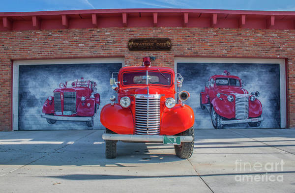 Wall Art - Photograph - Victor Fire Department by Tony Baca