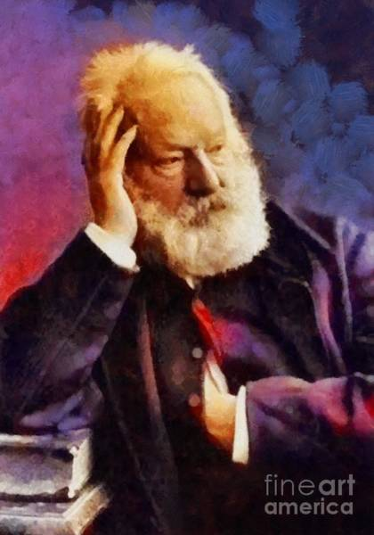 Poetry Painting - Victor Hugo, Literary Legend by Sarah Kirk