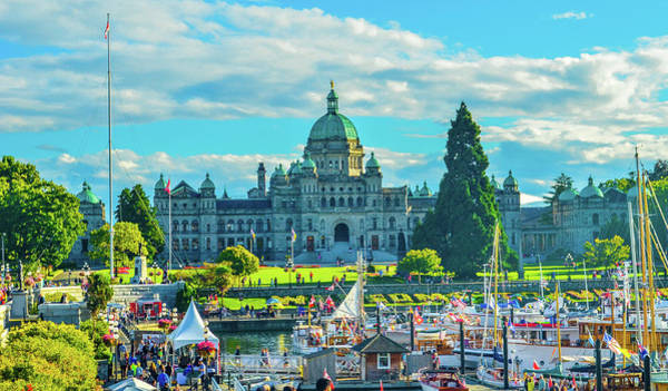 Photograph - Victoria Bc Parliament Harbor by Jason Brooks