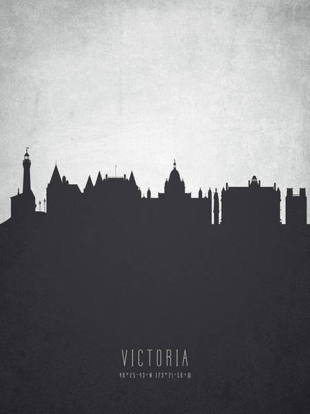 Wall Art - Painting - Victoria British Columbia Cityscape 19 by Aged Pixel