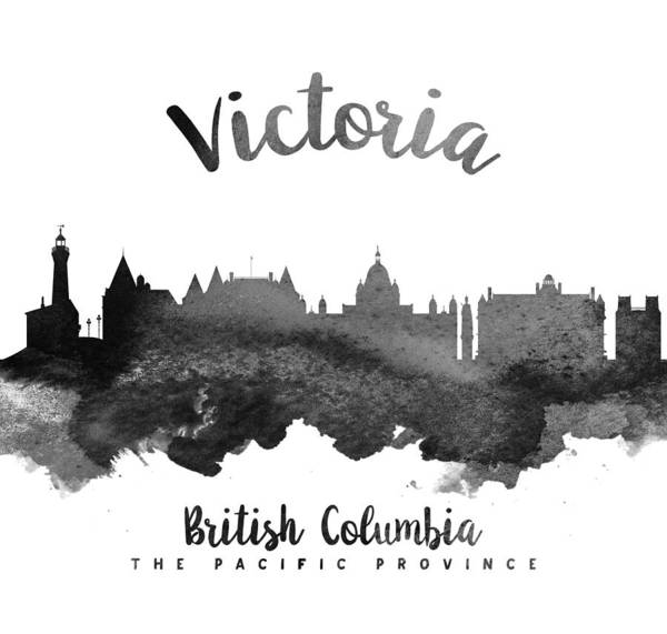 Wall Art - Painting - Victoria British Columbia Skyline 18 by Aged Pixel