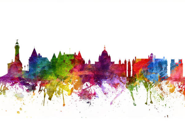 Wall Art - Digital Art - Victoria Canada Cityscape 06 by Aged Pixel