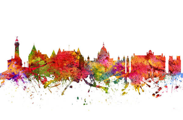Wall Art - Digital Art - Victoria Cityscape 08 by Aged Pixel