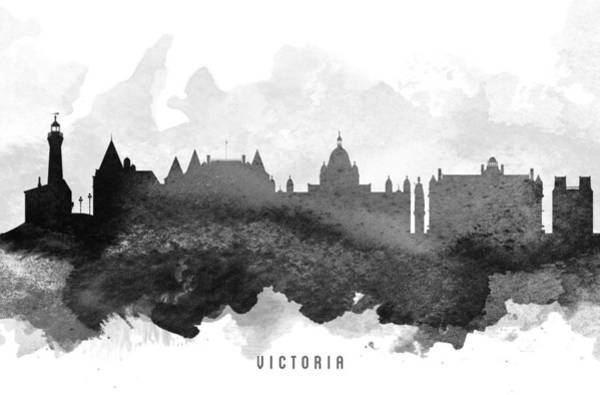 Wall Art - Painting - Victoria Cityscape 11 by Aged Pixel