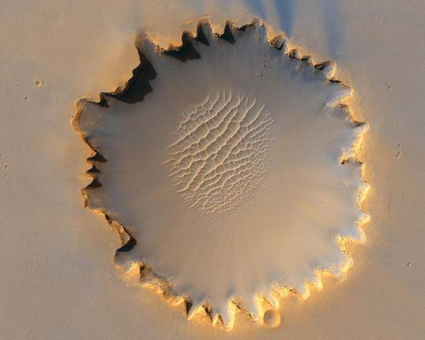 Painting - Victoria Crater Of Mars  by Jet Propulsion Laboratory