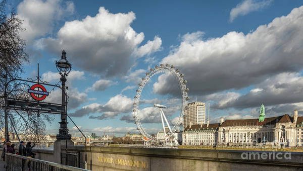 London Eye Photograph - Victoria Embankment by Adrian Evans