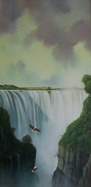 Victoria Falls Painting - Victoria Falls by Don Griffiths