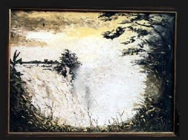 Victoria Falls Painting - Victoria Falls by Nicky Chovuchovu