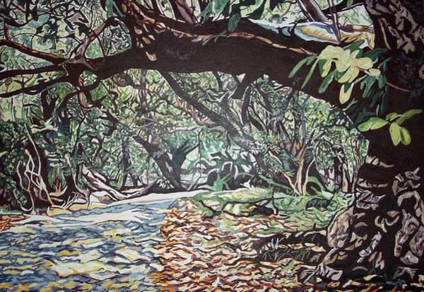 Victoria Falls Painting - Victoria Falls Rainforest by Valentine Magutsa