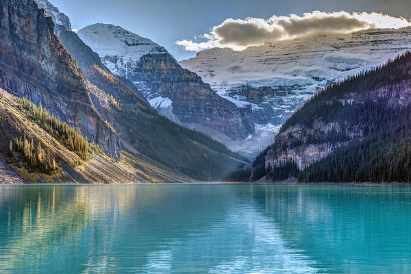 Photograph - Victoria Glacier Reflection by Pierre Leclerc Photography