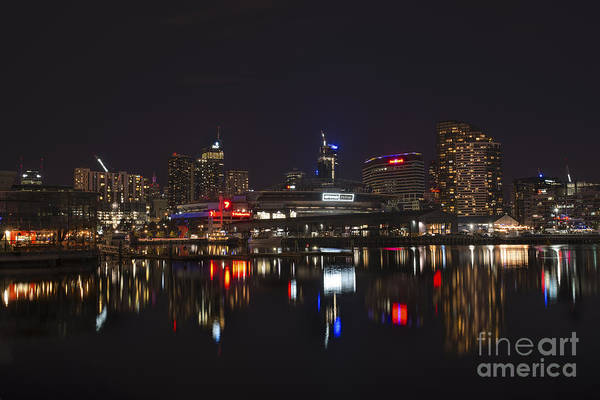 Photograph - Victoria Harbour Lights by Ray Warren