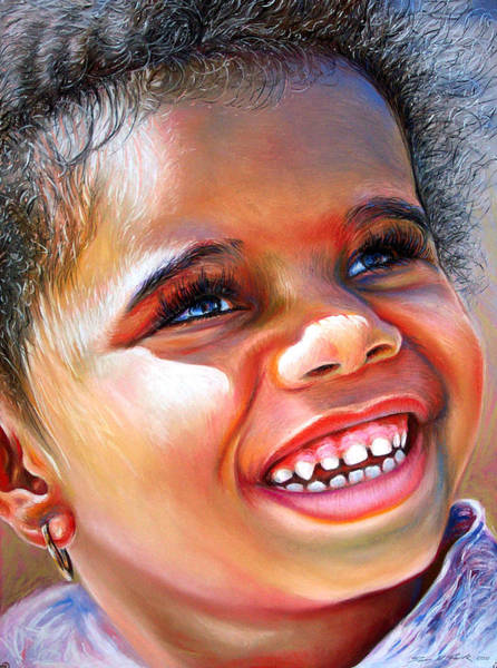 Pastel Portrait Wall Art - Pastel - Victoria In The Park by Dennis Rennock