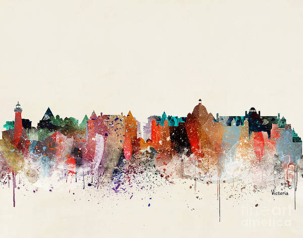 Wall Art - Painting - Victoria Skyline  by Bri Buckley