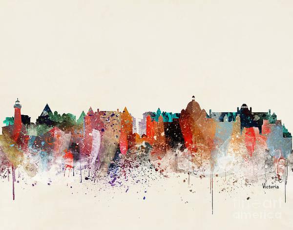 Victoria Wall Art - Painting - Victoria Skyline  by Bri Buckley