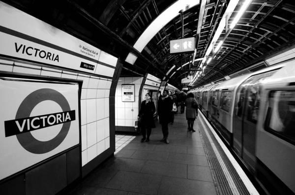 Wall Art - Photograph - Victoria Underground Station by Liz Pinchen