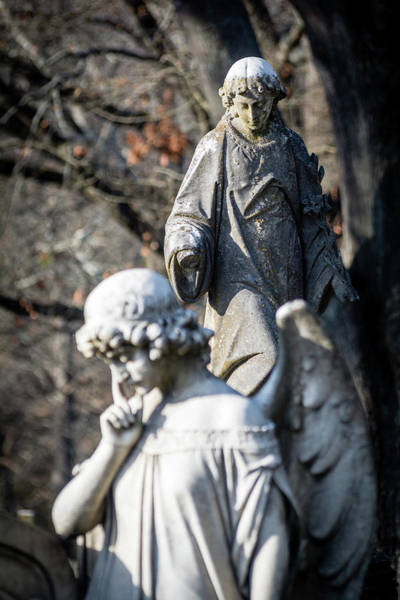 Photograph - Victorian Angel Contemplating by James L Bartlett