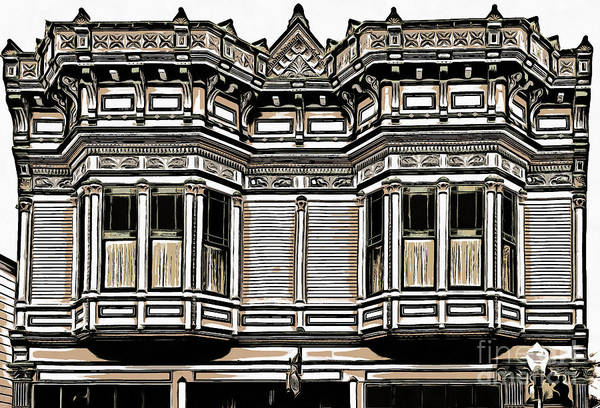 Old Town Digital Art - Victorian Architecture Details by Edward Fielding