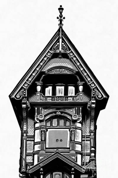 Digital Art - Victorian Architecture Details Turret  by Edward Fielding