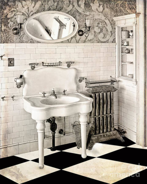 Sink Painting - Victorian Bathroom by Mindy Sommers
