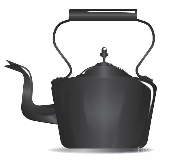 Spout Digital Art - Victorian Black Kettle by Bigalbaloo Stock