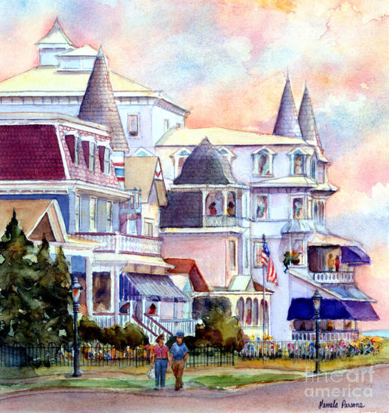 Cape May Painting - Victorian Cape May New Jersey by Pamela Parsons