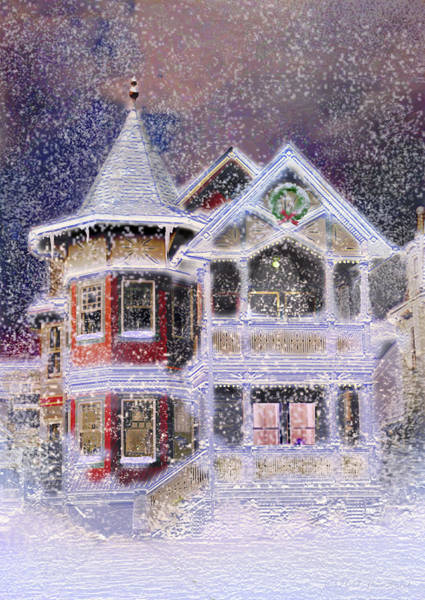 Victorian House Digital Art - Victorian Christmas by Steve Karol