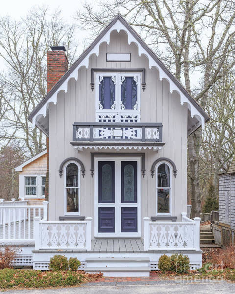 Cottage Style Wall Art - Photograph - Victorian Cottage On Cape Cod by Edward Fielding