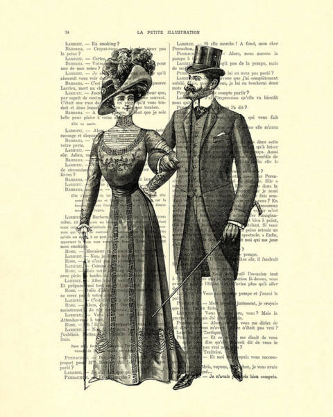 Sweetheart Digital Art - Victorian Couple by Madame Memento