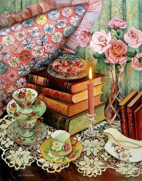 Doily Painting - Victorian Essence by Carol VonBurnum