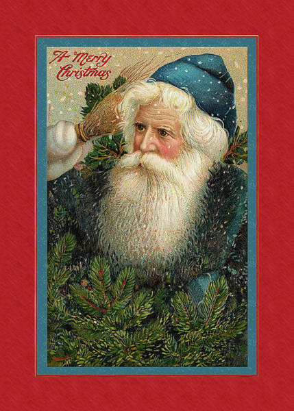 Digital Art - Victorian Father Christmas by Denise Beverly