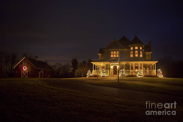 Wall Art - Photograph - Victorian House At Christmas by Diane Diederich