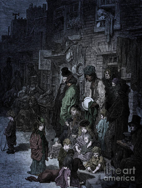 Wall Art - Drawing - Victorian London  Whitechapel By Dore by Gustave Dore
