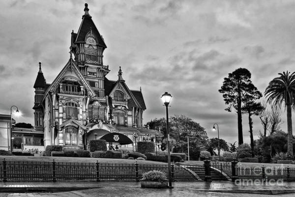 Queen Anne Style Photograph - Victorian Mansion Night by Jamie Pham