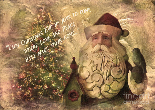 Digital Art - Victorian Santa Card 2015 by Kathryn Strick