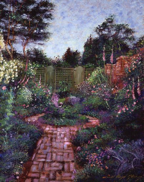 Great Britain Painting - Victorian Secret Garden by David Lloyd Glover