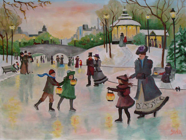 Lax Painting - Victorian Skate by Stephanie Arsenault