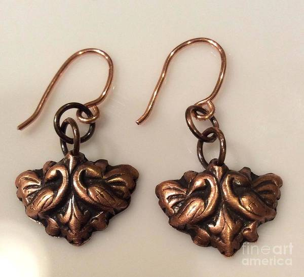 Jewelry - Victorian Style Copper Earrings by Melany Sarafis