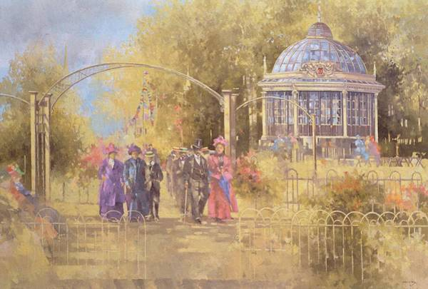 Stand Out Wall Art - Painting - Victorian Sunday by Peter Miller