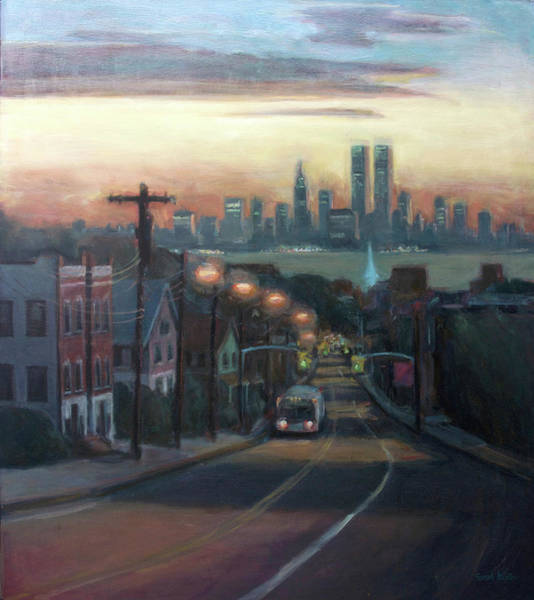 11 Wall Art - Painting - Victory Boulevard At Dawn by Sarah Yuster