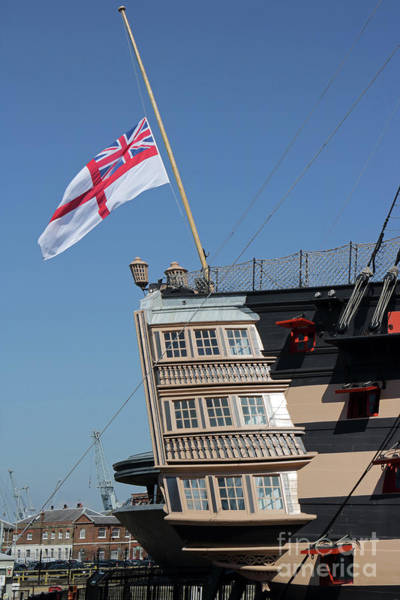 Photograph - Victory Flag Portsmouth by Julia Gavin
