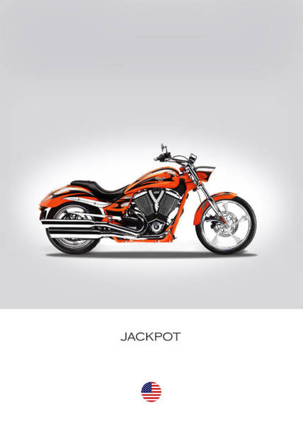 Victory Motorcycle Photograph - Victory Jackpot by Mark Rogan