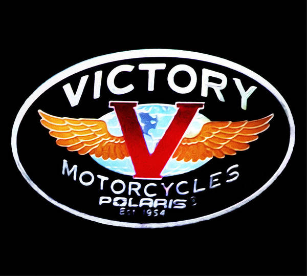Victory Motorcycle Photograph - Victory Motorcycles Emblem by Bill Cannon