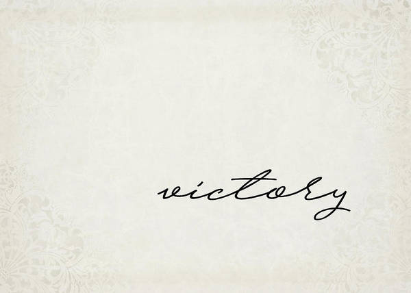 Wall Art - Digital Art - Victory One Word Series by Ricky Barnard