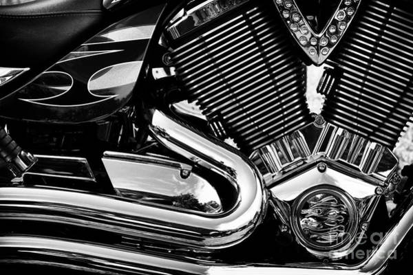 Victory Motorcycle Photograph - Victory V Twin Abstract by Tim Gainey