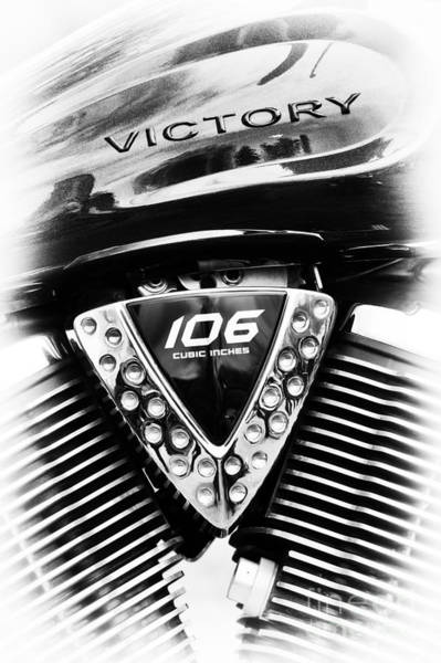 Victory Motorcycle Photograph - Victory Vegas 8 Ball by Tim Gainey
