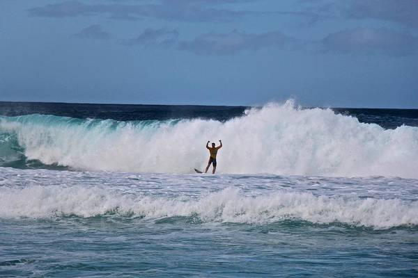 Bodyboard Photograph - Victory Vibe by Benen  Weir