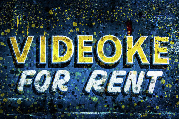 Photograph - Videoke For Rent by Michael Arend