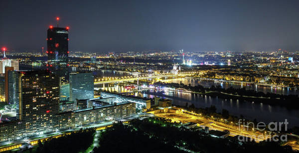 Donau Photograph - Vienna At Night by Catalin Petolea