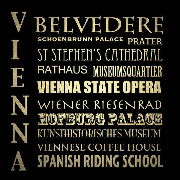 Vienna Austria Famous Landmarks Art Print