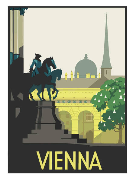 Vienna Painting - Vienna, Austria, Vintage Travel Poster by Long Shot